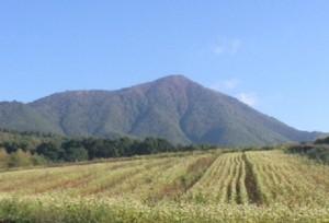 飯縄山とそば畑