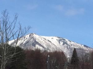 雪形 飯縄山