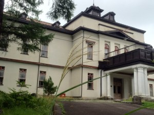 ススキと自治研修所