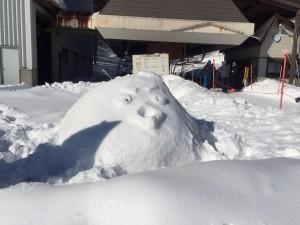 第1クワッドリフトのづなっち雪だるま
