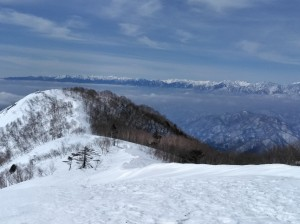 登山道からの景色
