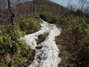 尾根筋の積雪